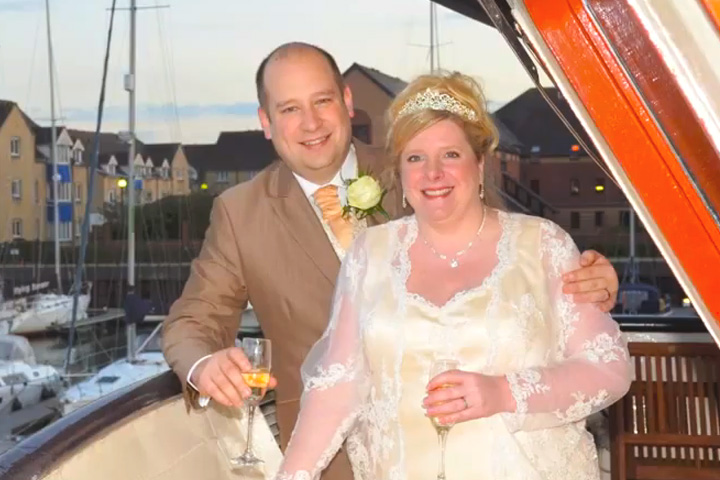 Video of the Wedding reception for Becky and Michael on board the Princess Caroline